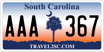 SC license plate AAA367