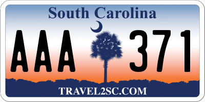 SC license plate AAA371