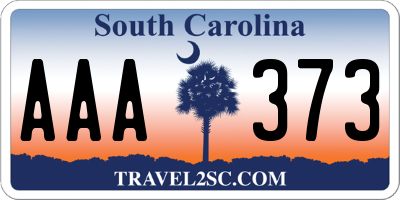 SC license plate AAA373