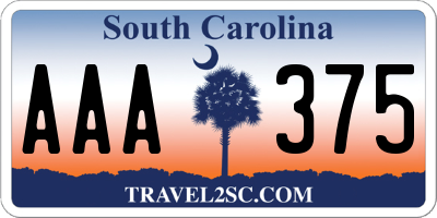 SC license plate AAA375