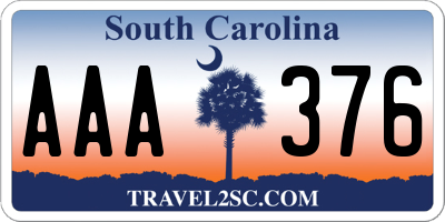 SC license plate AAA376