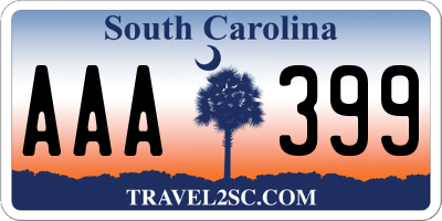 SC license plate AAA399