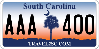 SC license plate AAA400