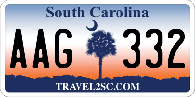 SC license plate AAG332