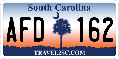 SC license plate AFD162