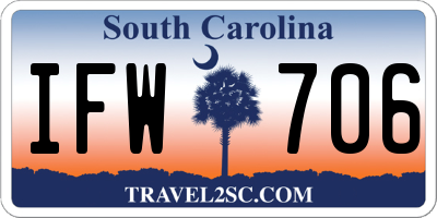 SC license plate IFW706