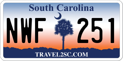 SC license plate NWF251