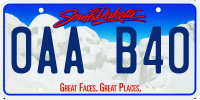 SD license plate 0AAB40