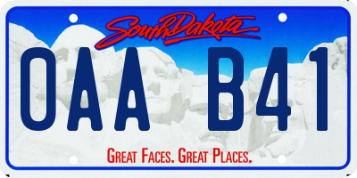 SD license plate 0AAB41