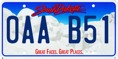 SD license plate 0AAB51