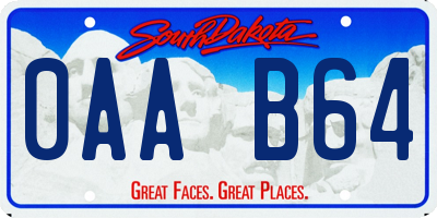 SD license plate 0AAB64