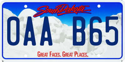 SD license plate 0AAB65