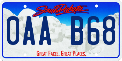 SD license plate 0AAB68