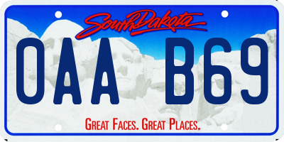 SD license plate 0AAB69