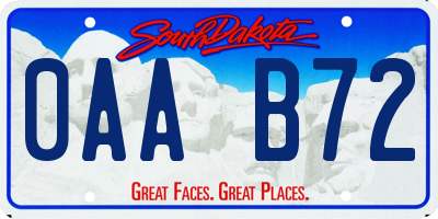 SD license plate 0AAB72
