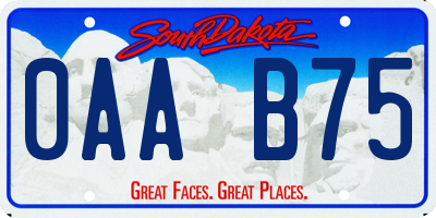 SD license plate 0AAB75