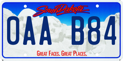 SD license plate 0AAB84