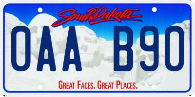 SD license plate 0AAB90
