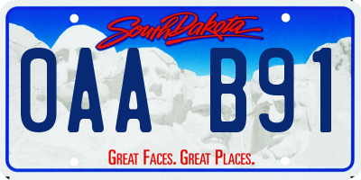 SD license plate 0AAB91
