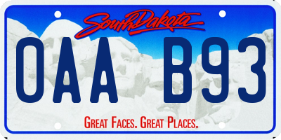 SD license plate 0AAB93