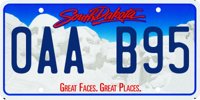 SD license plate 0AAB95