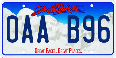 SD license plate 0AAB96