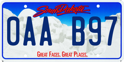 SD license plate 0AAB97