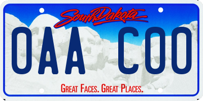 SD license plate 0AAC00