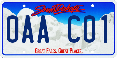 SD license plate 0AAC01