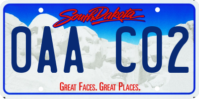 SD license plate 0AAC02
