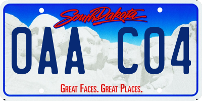 SD license plate 0AAC04