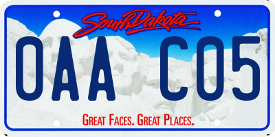SD license plate 0AAC05