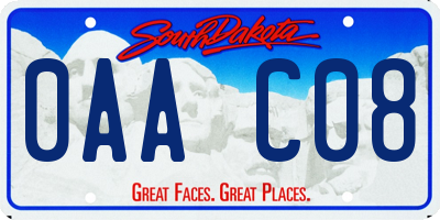 SD license plate 0AAC08
