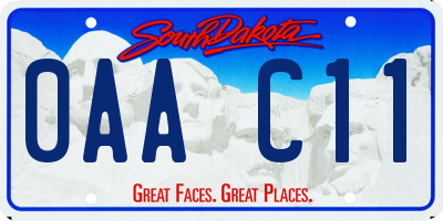 SD license plate 0AAC11