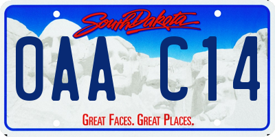 SD license plate 0AAC14