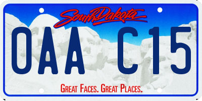 SD license plate 0AAC15