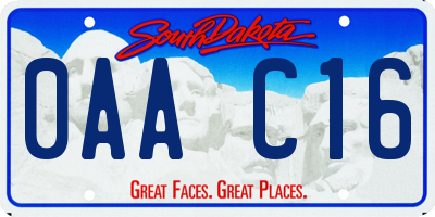 SD license plate 0AAC16