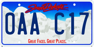 SD license plate 0AAC17