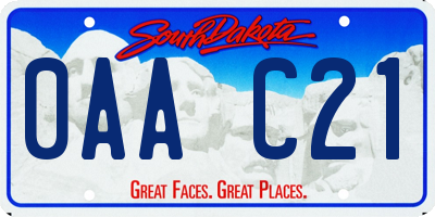 SD license plate 0AAC21