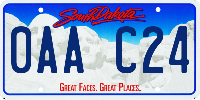 SD license plate 0AAC24