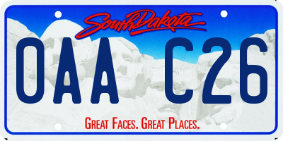 SD license plate 0AAC26