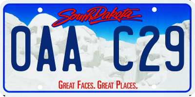 SD license plate 0AAC29