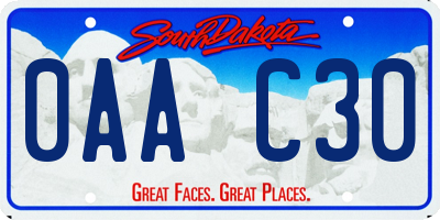 SD license plate 0AAC30