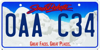 SD license plate 0AAC34