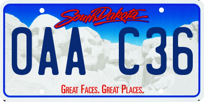 SD license plate 0AAC36