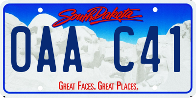 SD license plate 0AAC41