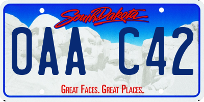 SD license plate 0AAC42