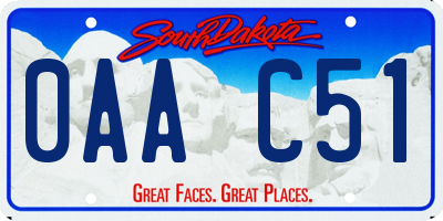 SD license plate 0AAC51