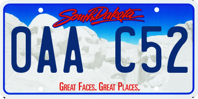 SD license plate 0AAC52