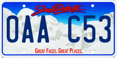 SD license plate 0AAC53